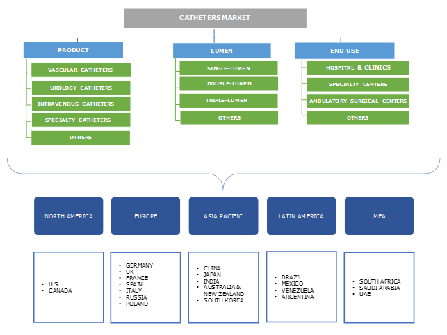 Catheters Market Segmentation