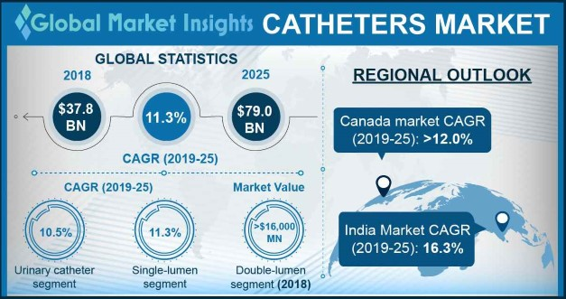 India Catheters Market, By Product, 2013 – 2024, (USD Billion)