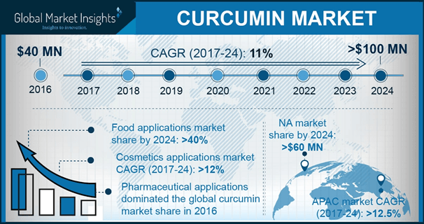 North America Curcumin Market, By Application, 2016 & 2024, (USD Thousand)