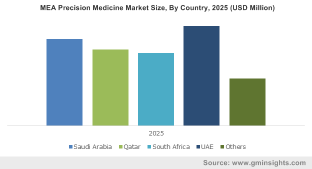 MEA Precision Medicine Market Size, By Country, 2025 (USD Million)