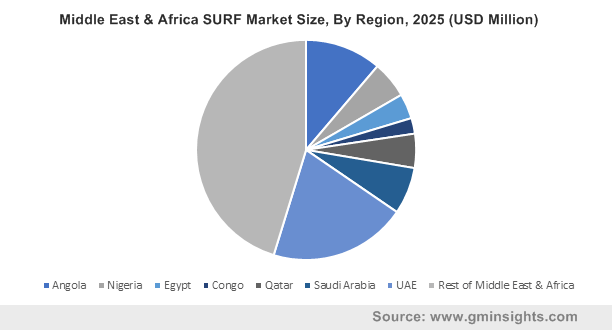 Middle East & Africa SURF Market Size, By Region