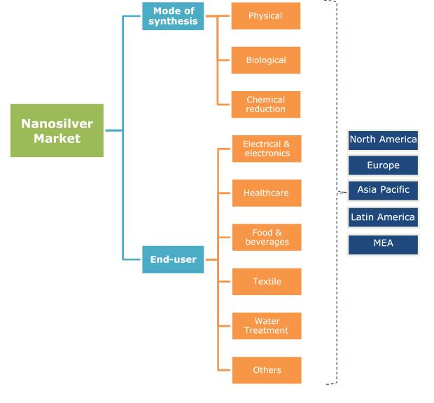 Nanosilver Market Segmentation