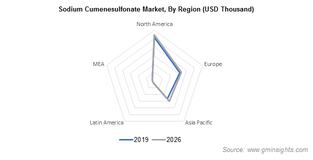 Sodium Cumenesulfonate Market by Region